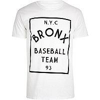 White Bronx baseball team t-shirt