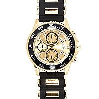 Black rubber bracelet watch
