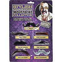 Novelty self-adhesive moustache collection