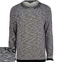 Grey marl wreath neck sweatshirt