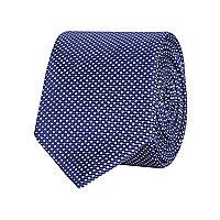 Blue spot print tie