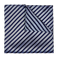 Navy horizontal stripe pocket square