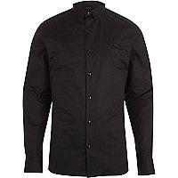 Black skinny long sleeve shirt