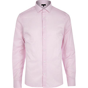 Light pink stripe long sleeve shirt
