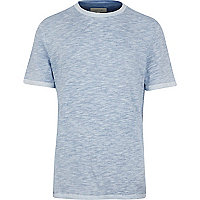 Blue slub t-shirt