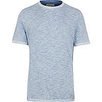 Blue slub t-shirt