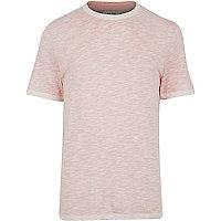 Orange slub t-shirt