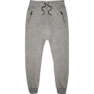 Grey drop crotch joggers