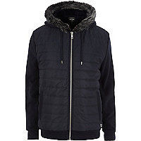 Navy padded jacket