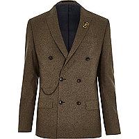 Khaki tweed blazer