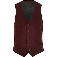 Red tweed waistcoat
