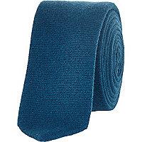 Teal textured tie