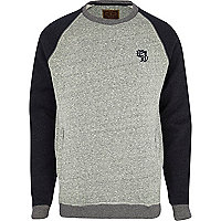 Grey Holloway Road contrast sweatshirt