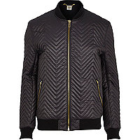 Black RI Studio quilted bomber jacket