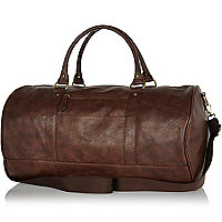 Dark brown mottled holdall