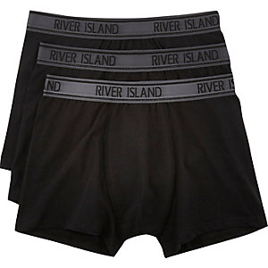 Black RI boxer shorts pack