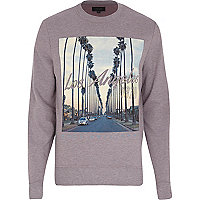 Purple Los Angeles 1978 print sweatshirt