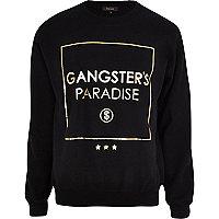 Black gangster's paradise print sweatshirt