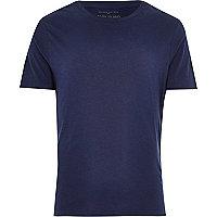 Navy slub crew neck t-shirt