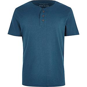 Turquoise grandad t-shirt