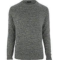 Dark green twist knit jumper