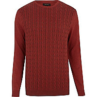 Rust cable knit jumper