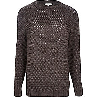 Grey rik rak stitch jumper