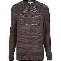 Grey rik rak stitch jumper
