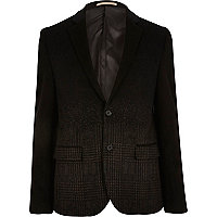 Black ombre check blazer