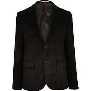Black ombre check blazer