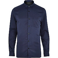 Navy sleek long sleeve shirt