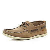 Light brown boat shoes