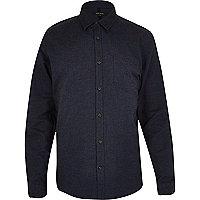 Navy brushed cotton Oxford shirt