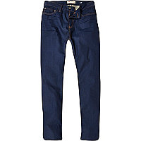Dark wash Dylan coated slim jeans