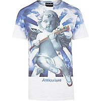 Blue Anticulture heaven print t-shirt