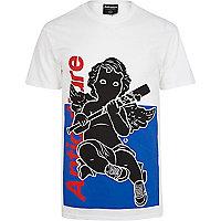 Blue Anticulture cherub print t-shirt