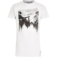 White RVLT forest reflection print t-shirt