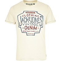 White Jack & Jones Vintage print t-shirt