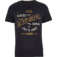 Navy Jack & Jones Vintage t-shirt