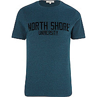 Teal North Shore University t-shirt