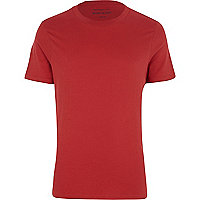 Bright red crew neck t-shirt