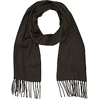 Grey marl brushed woven scarf