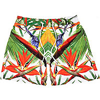 Green Jaded London tropical swim shorts