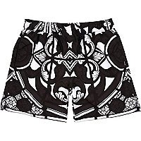 Black Jaded London monochrome swim shorts