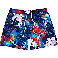 Blue Jaded London jungle print swim shorts
