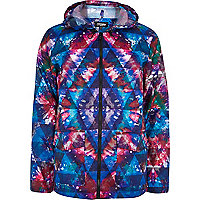 Blue Jaded London tie dye print rain mac