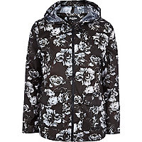 Black Jaded London floral rain mac