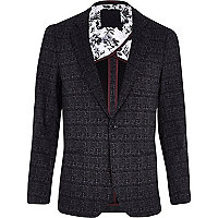 Dark grey VITO tweed blazer