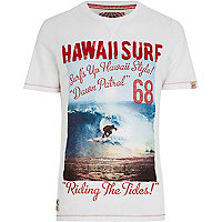 White Tokyo Laundry Hawaii surf t-shirt