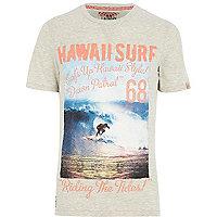 Ecru Tokyo Laundry Hawaii surf t-shirt